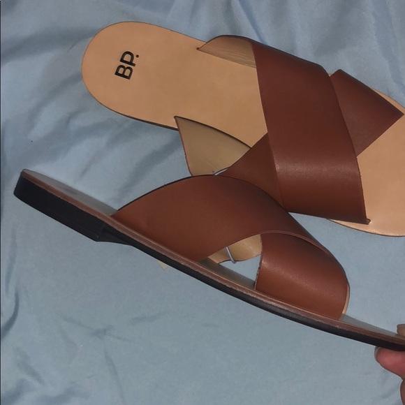 315349feb ❗️NWT ❗️Nordstrom BP. Twist Cognac Slide Sandals